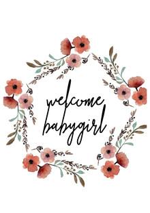 Christina Wolff, Kinderbild Welcome Babygirl Blumenkranz (Germany, Europe)