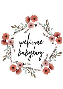 Christina Wolff, Kinderbild Welcome Babyboy Blumenkranz (Germany, Europe)