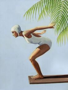 Sarah Morrissette, Diver with palm (Austria, Europe)