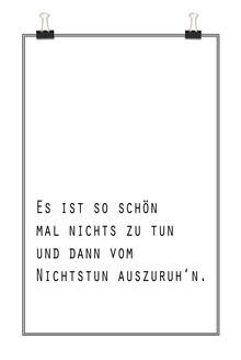 Christina Wolff, Zitat Nichtstun - Oma Anna (Germany, Europe)
