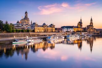 Jan Becke, Dresden Stadtansicht bei Sonnenuntergang (Deutschland, Europa)