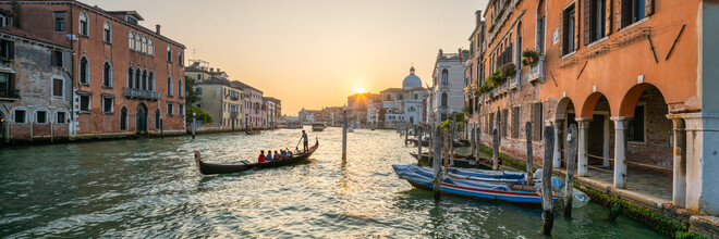 Jan Becke, Sunset at the Canal Grande (Italy, Europe)