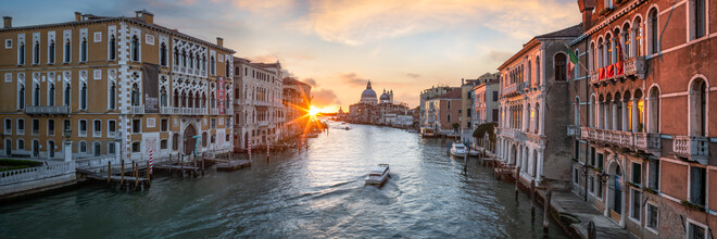 Jan Becke, Sunrise at the Canal Grande (Italy, Europe)
