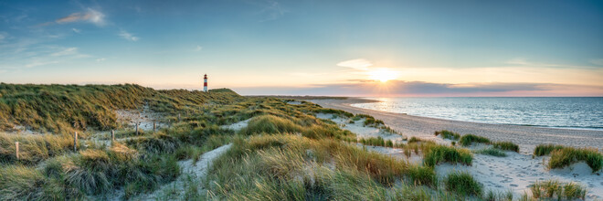 Jan Becke, Sunset at the North Sea coast on Sylt (Germany, Europe)