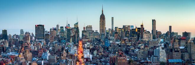Jan Becke, Manhattan Skyline Panorama bei Sonnenuntergang (Vereinigte Staaten, Nordamerika)