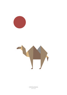Anna Maria Laddomada, Camel | Africa Series | Origamia Design (Egypt, Africa)