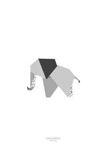 Anna Maria Laddomada, Elephant   Africa Series   Origamia Design (Kenya, Africa)