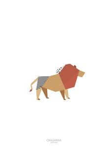 Anna Maria Laddomada, Lion   Africa Series   Origamia Design (Kenya, Africa)