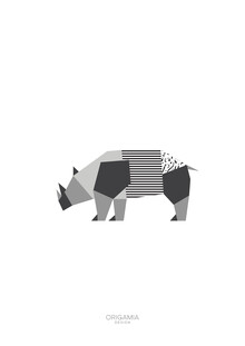 Anna Maria Laddomada, Rhinoceros   Africa Series   Origamia Design (Kenya, Africa)