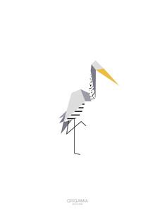 Anna Maria Laddomada, Stork | Birds Series | Origamia Design (Morocco, Africa)