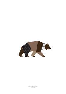 Anna Maria Laddomada, Bear | Forest Series | Origamia Design (Italy, Europe)