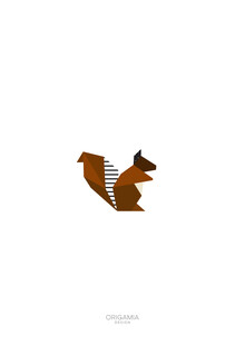 Anna Maria Laddomada, Squirrel   Forest Series   Origamia Design (Italy, Europe)