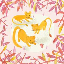 The Artcircle, Lion cubs von Lisa Dolson (Großbritannien, Europa)