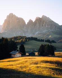 André Alexander, Morgenlicht trifft auf hochalpine Berglandschaft (Italien, Europa)