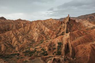 Leander Nardin, bizzare rocky mountain landscape in kyrgyzstan (Kyrgyzstan, Asia)
