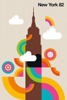 Bo Lundberg, New York 82 - Colorful illustration by Bo Lundberg for a stylish home (United States, North America)