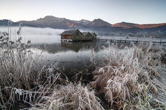 Franz Sussbauer, Three cabins at Lake Kochel I (Germany, Europe)