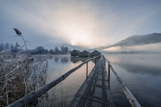 Franz Sussbauer, Three cabins at Lake Kochel III (Germany, Europe)
