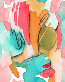 Seven Trees Design, Abstract Watercolor Art (Germany, Europe)