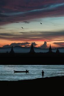 AJ Schokora, Evening Along the Irrawaddy River (Myanmar, Asia)
