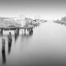 Dennis Wehrmann, Hafen Lippe im Nebel (Deutschland, Europa)