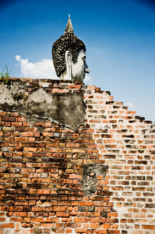 Buddha behind walls - Fineart photography by Michael Wagener