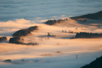 Sebastian 'zeppaio' Scheichl, Houses covered by fog (Austria, Europe)