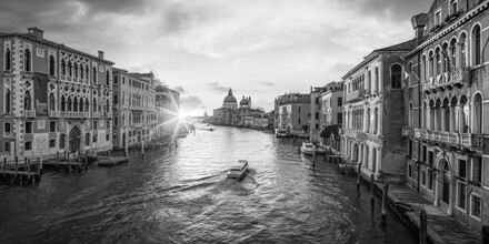 Jan Becke, Sunrise on the Grand Canal in Venice (Italy, Europe)
