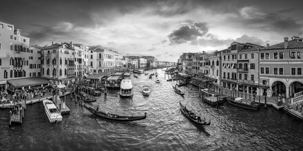 Jan Becke, Canal Grande at sunset (Italy, Europe)