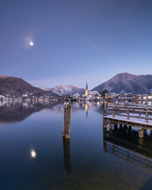 Franz Sussbauer, Moon over lake Tergernsee I (Germany, Europe)