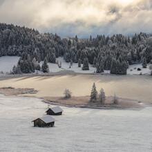 Franz Sussbauer, Winterlandschaft am Morgen (Deutschland, Europa)