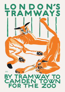 Vintage Collection, London's Tramways - By Tramway To Camden Town For The Zoo (Germany, Europe)
