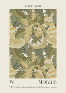 Art Classics, William Morris - grünes Blattmuster V&A Ausstellungsmuster (Deutschland, Europa)