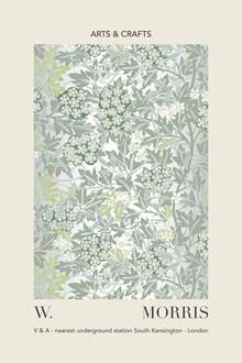 Art Classics, William Morris - grau-grünes Blatt- und Blumenmuster (Deutschland, Europa)