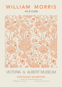 Art Classics, William Morris - orangefarbenes Blumenmuster (Deutschland, Europa)