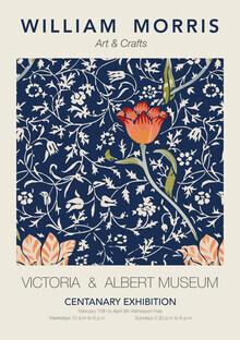 Art Classics, William Morris - bau-rotes Blumenmuster (Deutschland, Europa)