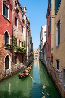 Jan Becke, Gondelfahrt in Venedig (Italien, Europa)