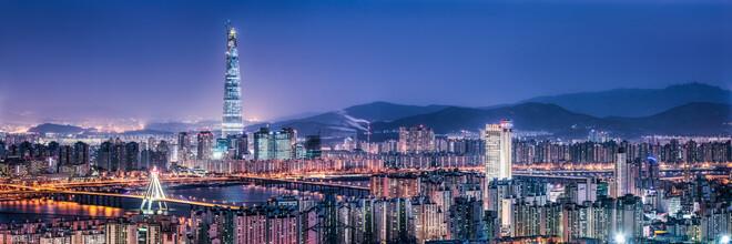 Jan Becke, Lotte World Tower und Seoul Skyline bei Nacht (Südkorea, Asien)