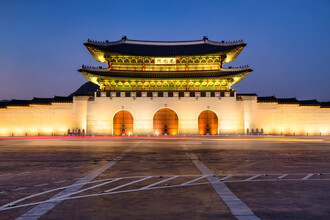 Jan Becke, Main gate of the Gyeongbokgung Palace in Seoul (Korea, South, Asia)