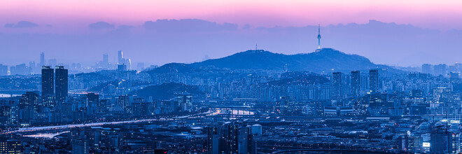 Jan Becke, Seoul Skyline bei Nacht (Südkorea, Asien)