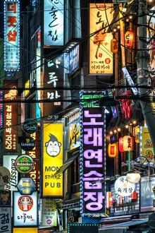 Jan Becke, Bunte Leuchtreklame im Songpa-gu Viertel in Seoul (Südkorea, Asien)