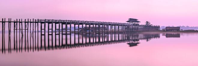 Jan Becke, U-Bein-Brücke am Taungthaman-See in Myanmar (Myanmar, Asien)