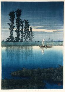 Japanese Vintage Art, Evening of Ushibori by Hasui Kawase (Japan, Asien)