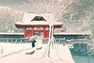 Japanese Vintage Art, Snow At Shiba Park by Hasui Kawase (Japan, Asien)