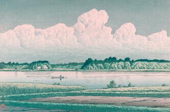 Japanese Vintage Art, The lake by Hasui Kawase (Japan, Asien)