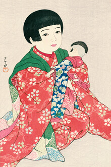 Japanese Vintage Art, Portrait Of A Child #1 by Hasui Kawase (Japan, Asien)