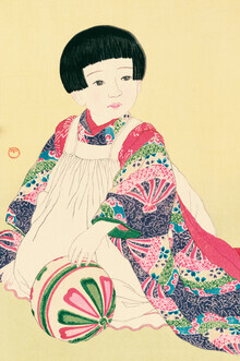 Japanese Vintage Art, Portrait Of A Child #2 by Hasui Kawase (Japan, Asien)
