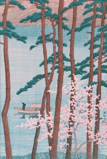 Japanese Vintage Art, Spring by Hasui Kawase (Japan, Asia)