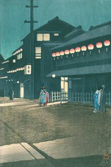 Japanese Vintage Art, Evening At Soemoncho, Osaka by Hasui Kawase (Japan, Asia)