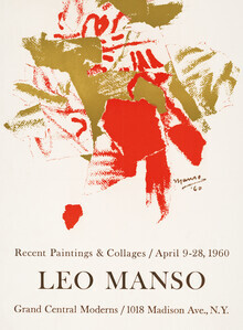 Vintage Collection, Leo Manso Ausstellungsposter von 1960 (Deutschland, Europa)